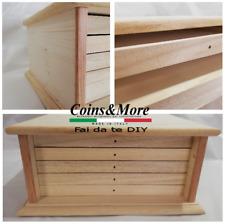 Monetiere in legno da verniciare Decupage wooden box Scatola DIY coin cabinet