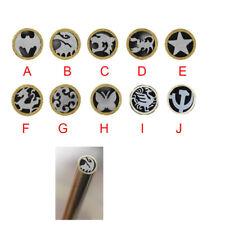 Mosaic Rivets Pin Knife Handle Brass+Steel tube Brooch Frame Making New