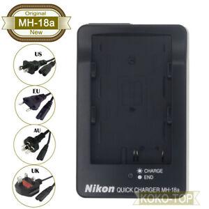 Original Nikon MH-18a Charger For D70 D80 D90 D100 D200 D300 D300s D700 EN-EL3e