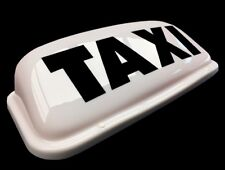 "HACKNEY / PRIVATE HIRE TAXI CAB ROOF SIGN 18"" WHITE MAGNETIC TOP LIGHT BOX LED"