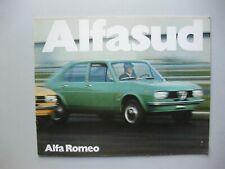 Alfa Romeo Alfasud prestige brochure Prospekt Depliant Dutch text 24 pages 1972