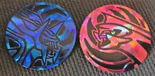 Palkia GX and Dialga GX Collector Coin OFFICIAL Pokemon 2018 NEAR MINT