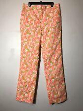 RARE Lilly Pulitzer Mens Stuff Vintage Golf Course Orange Pants Size 38