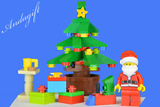 LEGO CHRISTMAS TREE lego santa Father Christmas lego train