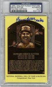 Bruce Sutter SIGNED Baseball Hall of Fame Plaque Cardinals PSA/DNA AUTOGRAPHED
