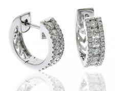 Diamond Huggie Earrings 0.70ct F VS Brilliant Cut in 18ct White Gold