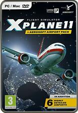 X-Plane 11 and Aerosoft Airport Collection Pack 2019 (PC Mac DVD) NEW & SEALED
