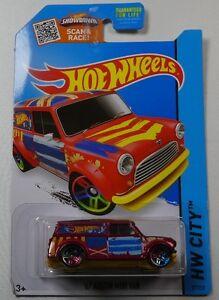 Hot Wheels 2015 HW City '67 Austin Mini Van Red 1967 HW Art Cars 1:64