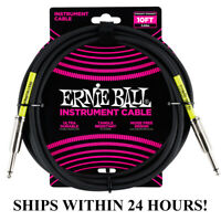 **ERNIE BALL 10' GUITAR/BASS INSTRUMENT CABLE (CABLE) - STRAIGHT TO STRAIGHT**
