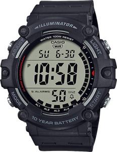 Casio AE1500WH-1AV, Chronograph Watch, Black Resin Band, Alarm, Illuminator