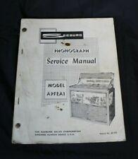 Vtg Seeburg Jukebox Service Manual Apfea1 Aprea1U Phonograph Select O Matic Book