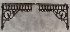 2 Victorian Eastlake Cast Iron 8 ¾� x 10 ½� Wall Corner Shelf Brackets