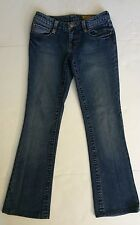 Seven distressed medium wash denim classic Flare Short Jeans  W26 L29