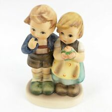 "Goebel Hummel ""We Congratulate� #220 1952 Tmk-6 4� Girl & Boy Figurine Exc Cond"
