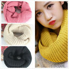Women Winter Warm Knitting Wool Collar Neck Warmer Scarf Shawl Wraps Color