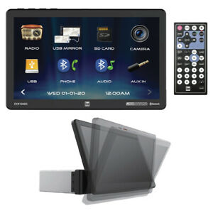 """Dual XVM1000UI 10.1"""" Screen Mechless Single Din With Mirroring Bluetooth Front"""