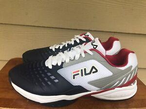FILA Mens Axilus 2 Energized White/NavyRed Tennis  Shoes 1TM00058-125 Sz 13