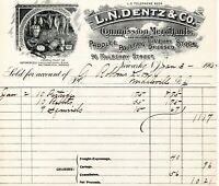 Jan 3, 1905 L.N. Dentz & Co. Produce and Poultry original paper invoice