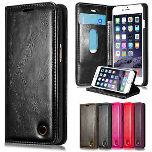 Genuine Leather Flip Wallet Phone Case Cover For iPhone SE 2020 XS X 8 7 6 Plus