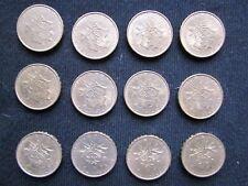 Lot de 12 monnaies: 10 Francs Mathieu 1974 (9x) et 1975 (3x) TTB