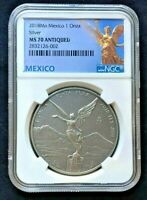 2018Mo Mexico 1oz Onza Silver Libertad    NGC MS70 ANTIQUED   1st Year Issued