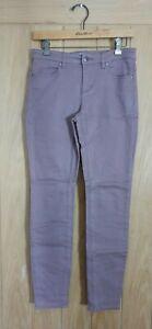 Monsoon size 8 dusky pink / brown stretch denim skinny jeans W29 L29