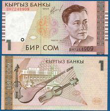 Kirghizstan/Kyrgyzstan 1 som 1999 unc pick 15