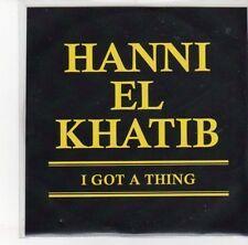 (DN55) Hanni El Khatib, I Got A Thing - DJ CD