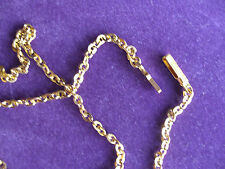 ROLLED GOLD DIAMOND LINK TRACE CHAIN ANKLET No5h