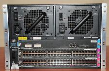 Cisco WS-C4503 PWR-C45-2800AC WS-X4515 WS-X4548-GB-RJ45V WS-X4548-GB-RJ45