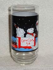 Coca-Cola Coke Collectible- Dad & Baby Polar Bears Coca-Cola Stand- 1995
