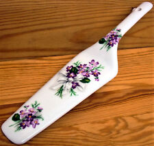 Sweet Violets Cake Server Fine Bone China Cake Slice Violets Pie Cake Server