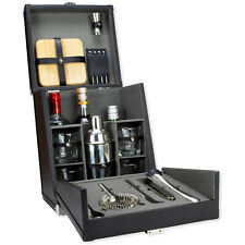 Atterstone Premium 17 Pc Portable Travel Bar Set Cocktail Bartending Kit Case