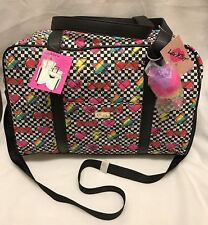 Luv by Betsey Johnson Weekender College Duffle Travel Bag Unicorn Stars