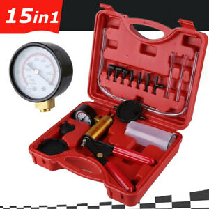 15in1 Vacuum Brake Bleeder Kit Vacuum Pump Gauge Air Pressure Fluid Bleed Tool