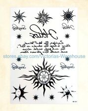"US Seller-tribal sun compass 8.25"" large arm tattoo temporary buy cheap party"