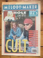 Melody Maker 23/11/91 The Cult cover, Hole, Urban Dance Squad, Revolver