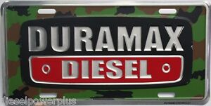Chevrolet chevy duramax license plate tag diesel gmc bowtie camo camoflauge