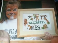 CROSS STITCH CHARTS JUNGLE ANIMAL NAME SAMPLER CHART ONLY OLDER FROM 1994