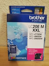 GENUINE BROTHER LC20E M XXL MAGENTA INK CARTRIDGE EXPIRES 05/2022 FACTORY SEALED