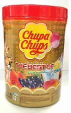 100 Best of CHUPA CHUPS, Lollipops Assorted Flavour Lollies Jar 1.2kg Bulk Pack