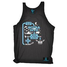 Made It Back Alive Repeat diver funny Birthday tshirt BELLE VEST SINGLET TOP