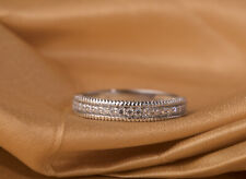 Cut Cubic Zirconia Stone ,Fine jewelry Studded Silver Band Ring With Round