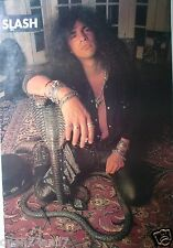 """SLASH """"POSING WITH A COBRA STATUE"""" POSTER FROM ASIA - Guns N' Roses Guitarist"""
