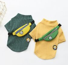 Spring Summer Pet Dog Clothing For Dogs Striped Cotton Puppy