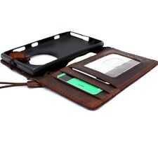 genuine Leather hard case for Nokia Lumia 1020 book Wallet Cover brown thin new