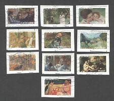 France -Timbres oblitérés - Peintres impressionnistes - N° 3866 à 3875 - 2006