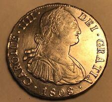 BOLIVIA- Carlos IV - 8 Reales -1808 PTS P.J.- Potosi Mint - About Unc. Details