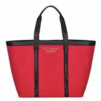 """NWT Victoria""""s Secret Red Studded Fringe  Tote Holiday bag 2017 Limited Edition"""
