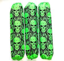 Shock Covers Yamaha YFZ 450R Neon Green Skulls YFZ450R YFZ450X ATV Set 3